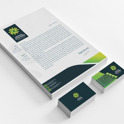 buisnes card and letterhead