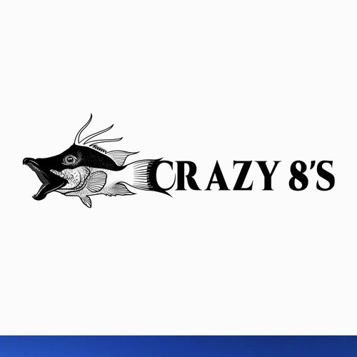 CRAZY FISH BOAT LOGO