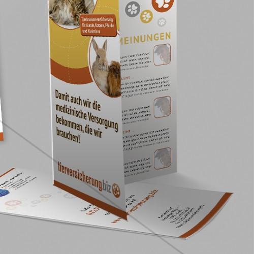 Create a cute animal flyer for a livestock insurance provider