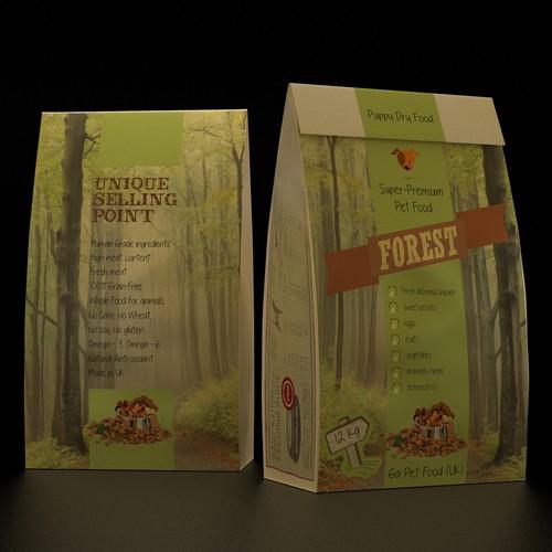 Premium Dog Food Packaging Design