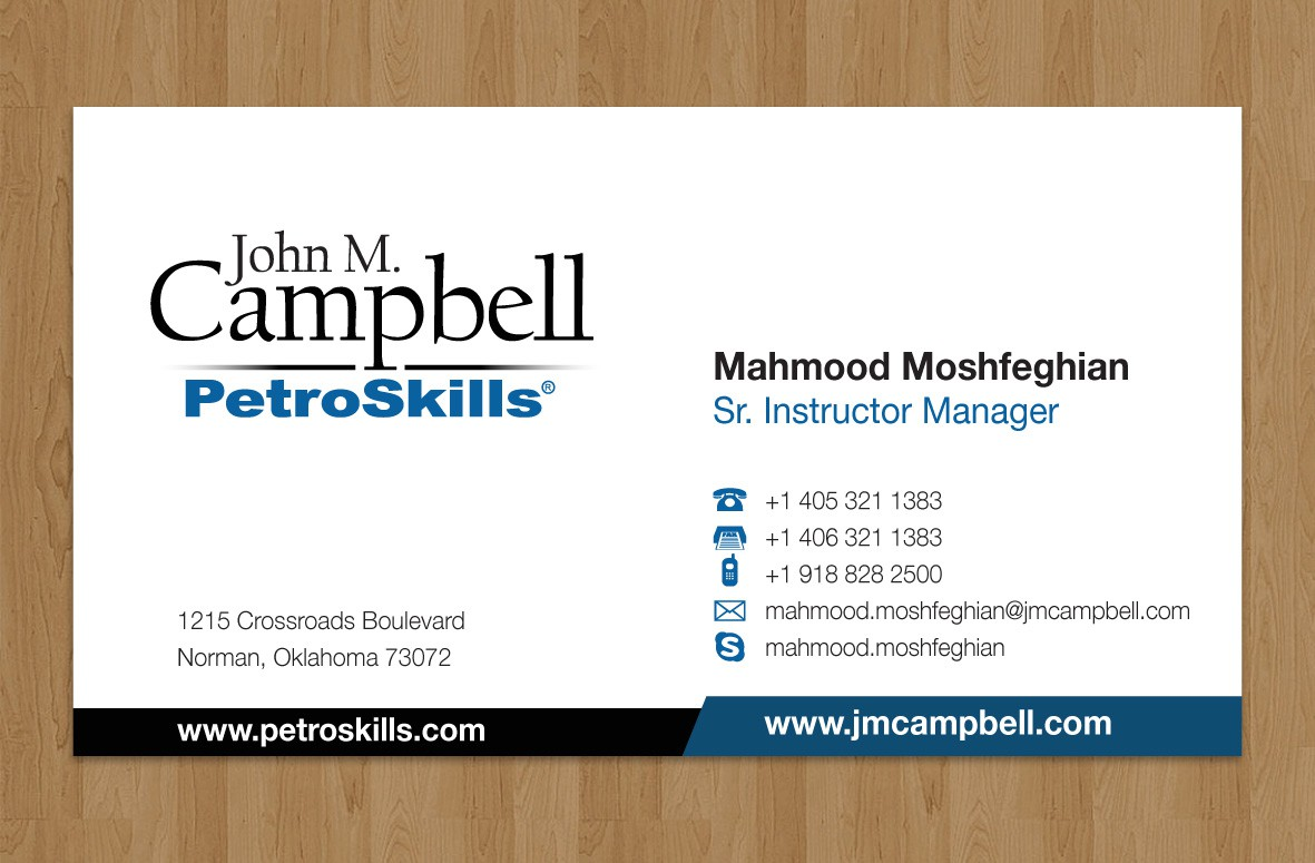 Help John M. Campbell   PetroSkills with a new stationery