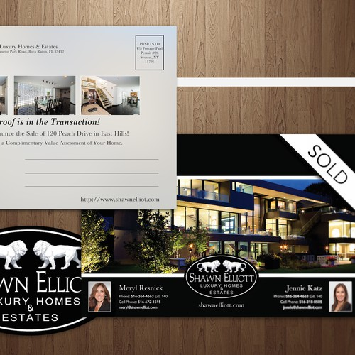 Create a Luxury / Modern Real Estate Postcard