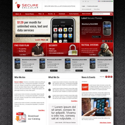 Secure Telecommunications Company New Web Site
