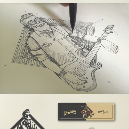 Mr. Smoking character design