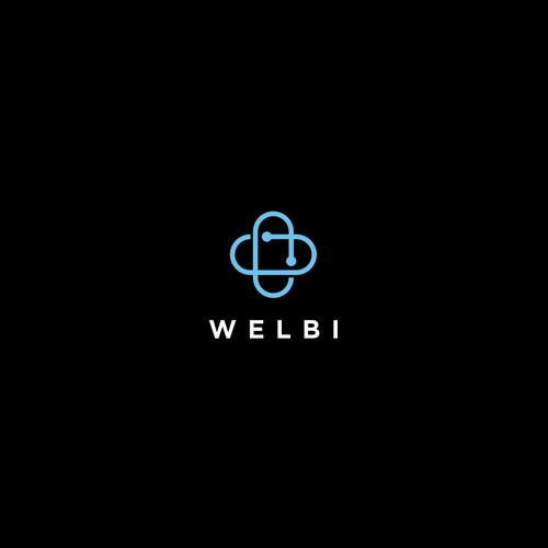 simple logo for WELBI