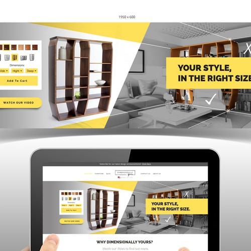 Headbanner design for furnishing company