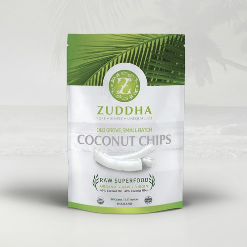 coconut chips packaging design