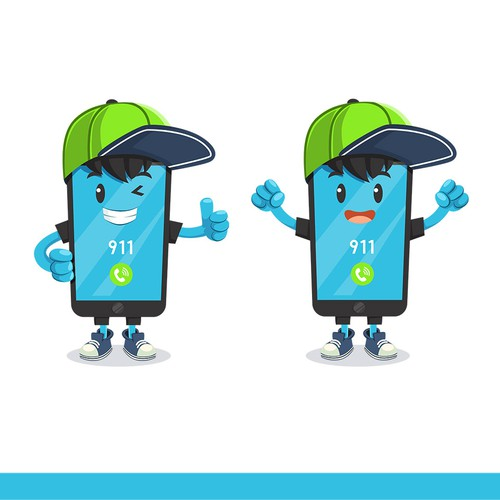 Mascot to Represent 9-1-1 Emergency Services as a Creative Smart Phone!