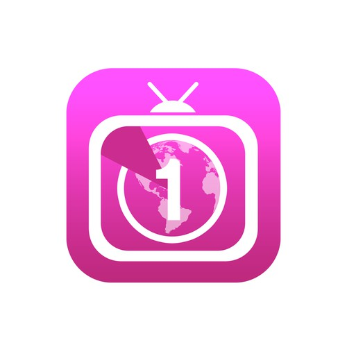 iOS 7-style iPhone app icon for World TV Countdown app