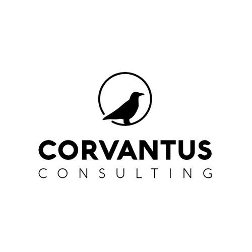 crow-themed logo design