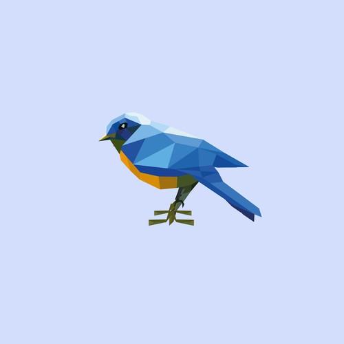 mosaic of Blue Bird Law