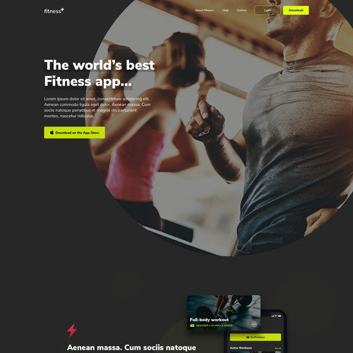 Fitness+ landing page