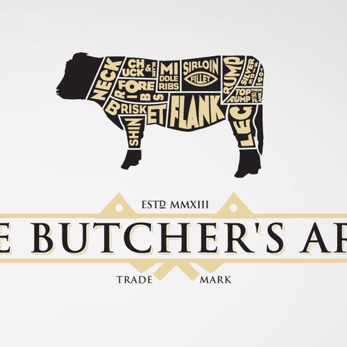 Create the next logo for The Butcher's Arms