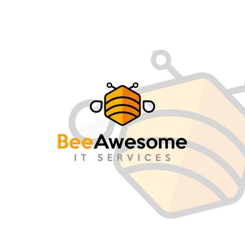 Logo Bee Awesome