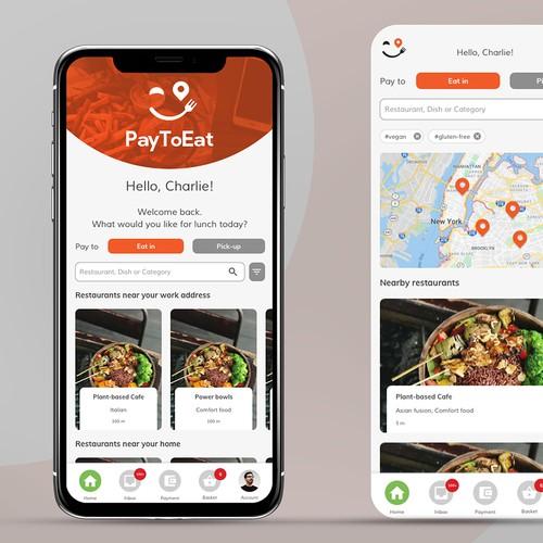 App design for food ordering