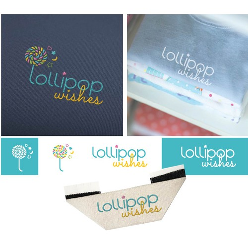 Colorful logo for baby fashion boutique