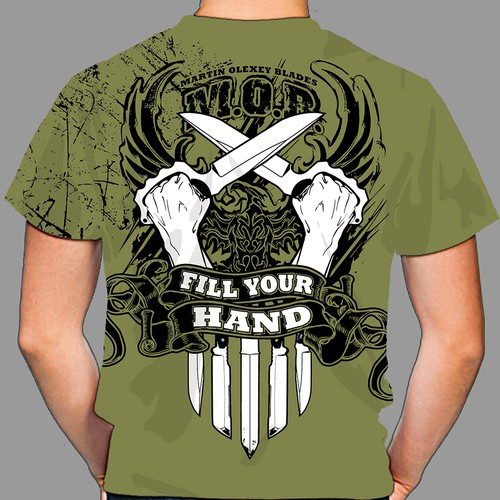 Custom Knife Maker T-Shirt Design