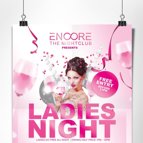 Ladies night, Club flyer