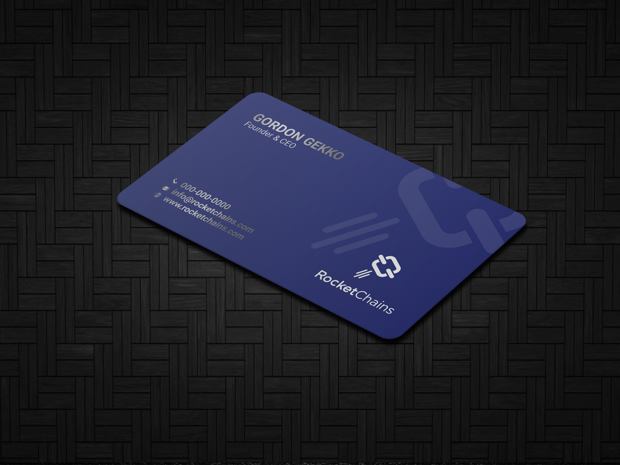 Awesome Business Card for BlockChain Company