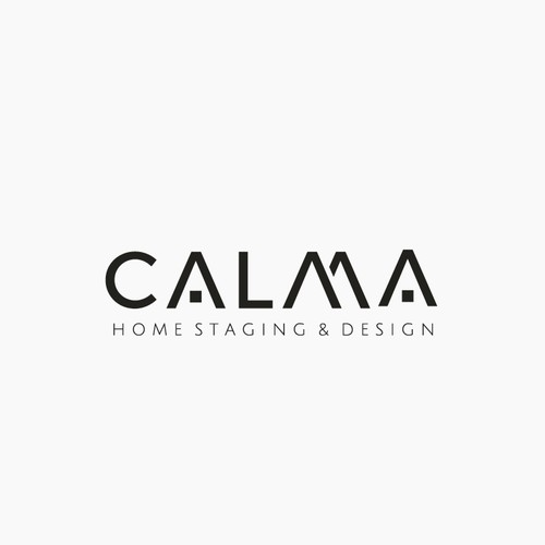Luxurious and Modern Logo for CALMA Real Estate Homestaging