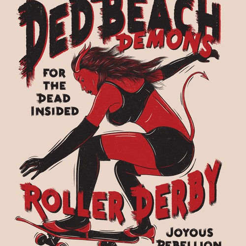 Shirt Illustration for Roller Derby Team