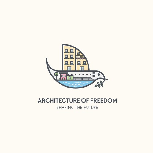 Playful,  minimalist and modernlogo for Architecture of Freedom