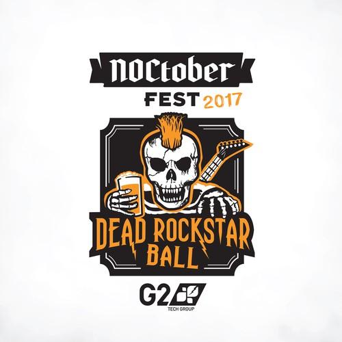 Design for the Noctober Fest 2017 Dead Rockstar Ball