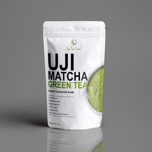 Matcha Tea Verpackungsdesign