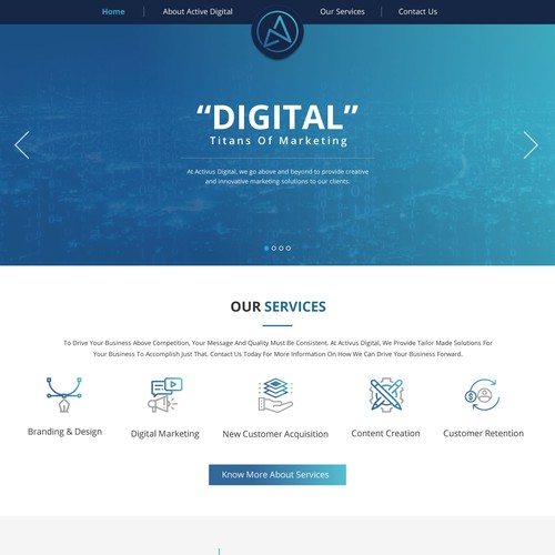 ACTIVUS DIGITAL HOME PAGE DESIGN