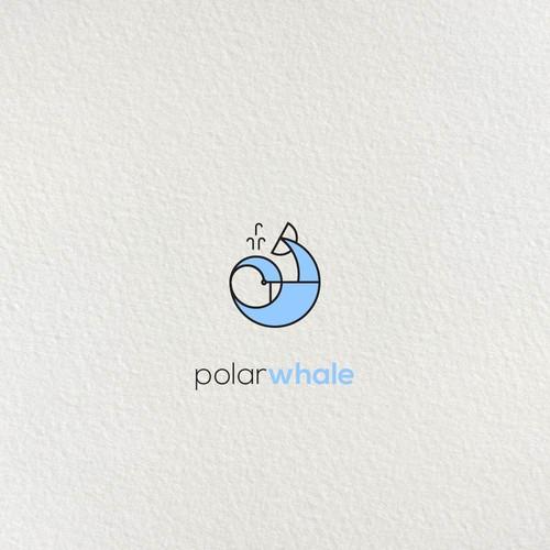 """Logo concept for """"Polar Whale""""."""
