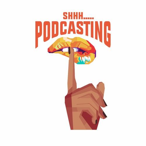 shh podcasting Tshirt contest
