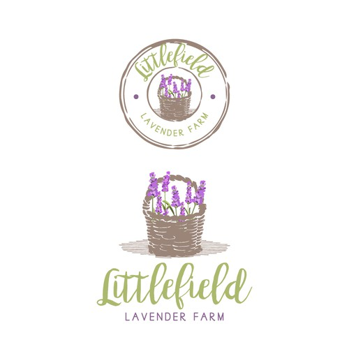A lovely logo for a lavender farm.