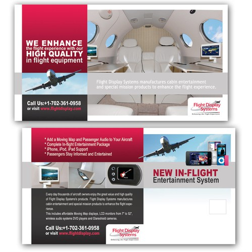 Postcard for New Aircraft Entertainment Package