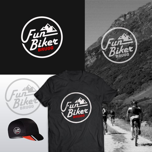 Bold logo concept for Fun Biker BRUGG