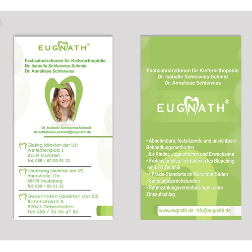 Eugnath® Business Card for Orthodontic Clinic