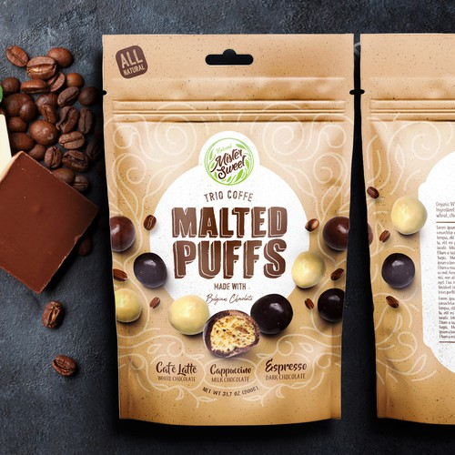 Trio Coffee Flavored Malt Puffs
