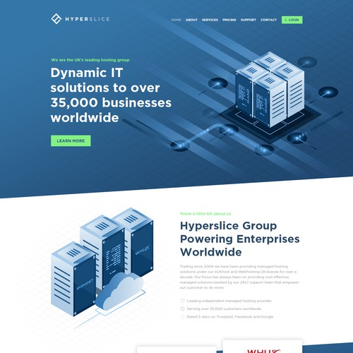 Webdesign for Hyperslice