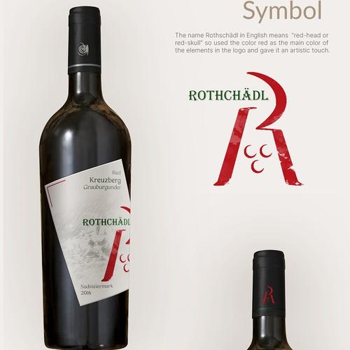Wine Label Modern Design- Rothschädl