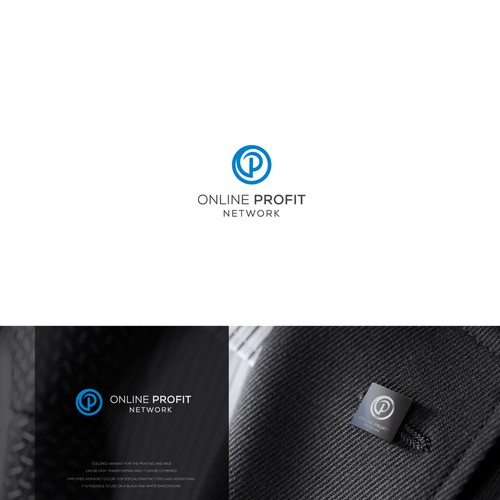 """letter """"P"""" concept. Online Profit"""