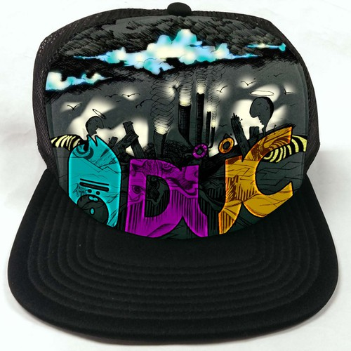TRUCKER CAP art needed. Funky, edgy inspiration wanted. We are aTENNIS co.