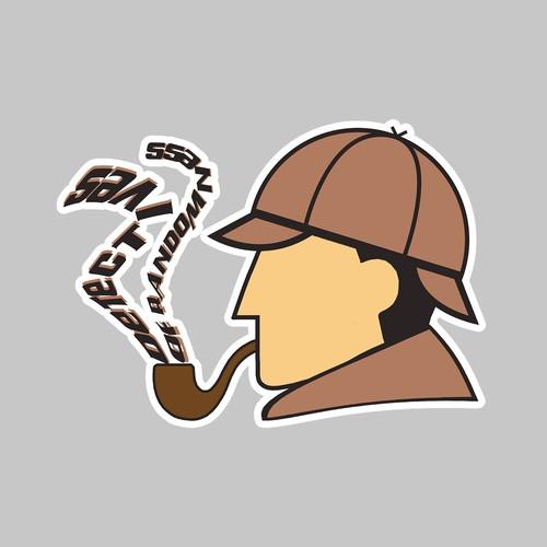 creative detective sticker