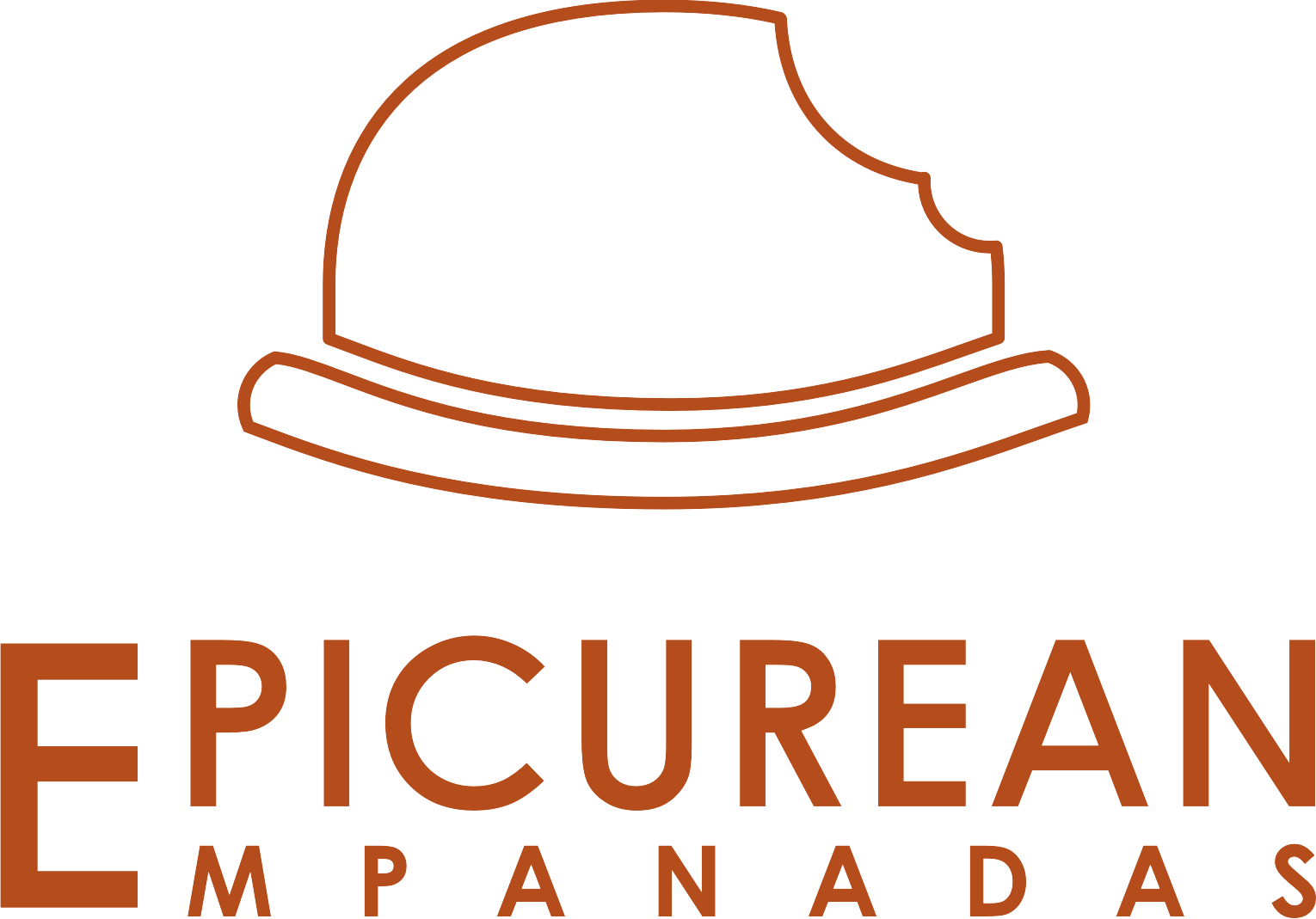 Create a chic-modern-story-telling logo for the best empanadas in London
