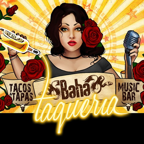 Create amazing artwork for our new Taqueria sign
