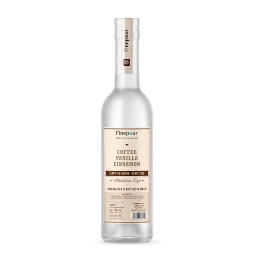 Label design for bottled cocktails