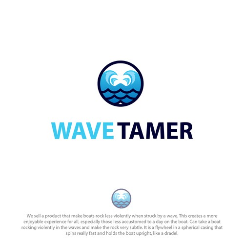 Minimalist logo for wave tamer