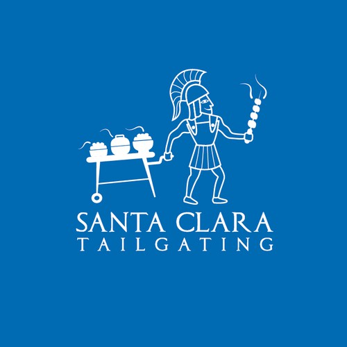 delicious greek food delivered by bike to football tailgate parties -logo