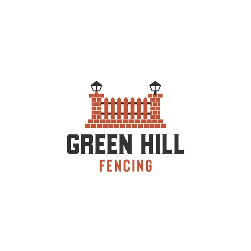 logo conceps for Green hill fencing