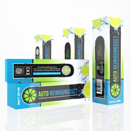 Blue Lime package design