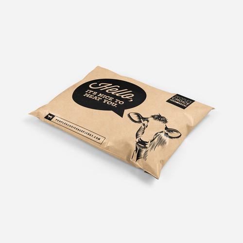 Mailer bag for L.A's original beef jerky company