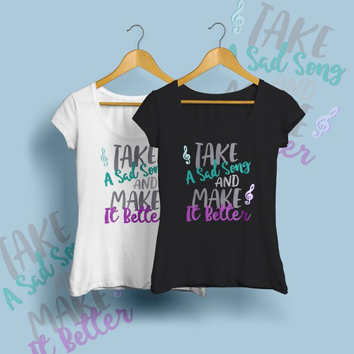 Hand-drawn lettering design for T-shirt